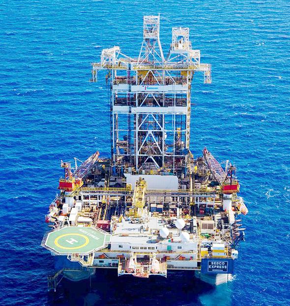 Israel's Leviathan gas field. Photo: Albatross
