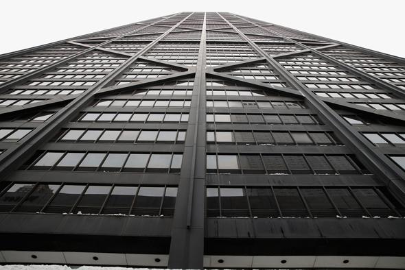 מגדל שיקאגו מרכז ג'ון הנקוק John Hancock Center, צילום: בלומברג