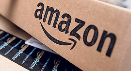 Amazon boxes אמזון, צילום: Mike Segar