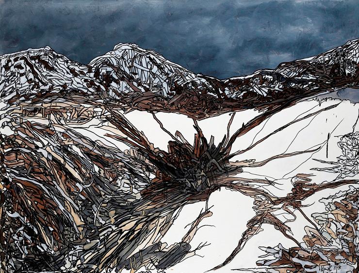 """""""""""Alps, עבודה של אברבנאל. """"בתקופת הבלגן בטבע לא היתה לי פניות לצייר"""""""