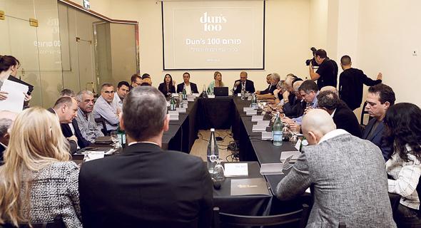 """הדיון שהתקיים בפורום ענף הבנייה והנדל""""ן של Dun's 100. רעבים לכוח עבודה"""