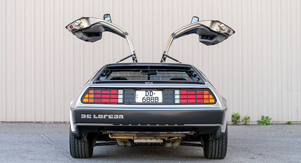 Back to the future style car. Photo: Shutterstock