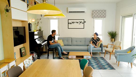 """מגזין נדל""""ן 28.11.18 ביתנו מרחיב את דעתנו סיון ו דורון, צילום: עמית שעל"""