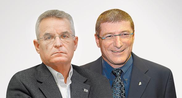 משמאל: אברהם ביגר ואליעזר שקדי, צילום: רמי חכם, אוראל כהן