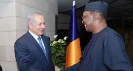 Idriss Deby and Benjamin Netanyahu. Photo: Amos Ben Gershom