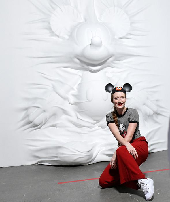 מתוך התערוכה על מיקי מאוס. ערימות של מרצ