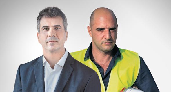 """מימין: מנכ""""ל הר־טוב רונן יונה ושר הכלכלה אלי כהן. """"עד 2020 כלום לא יתקדם"""", צילום: דוברות המפלגה כולנו, עמית שאבי"""