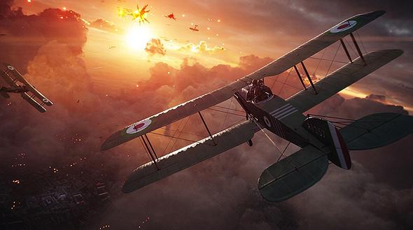העיגולים על הכנפיים? כדי לדעת בדיוק לאיזה צבא משתייך כל כלי, צילום: Battlefield 1