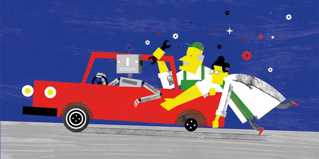 הידיים נשארות על ההגה: הרכב האוטונומי מוריד הילוך
