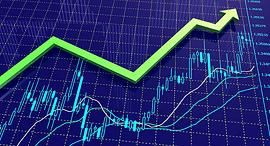 גרף שוק ההון עולה