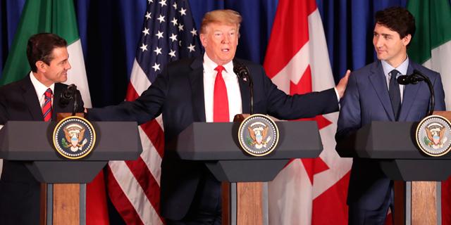 """מנהיגי ארה""""ב, קנדה ומקסיקו חתמו על הסכם הסחר החדש: """"זה היה קרב קשה"""""""