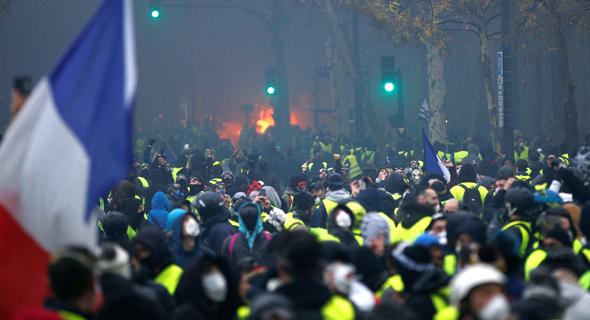 הפגנה בפריז, צילום: Stephane Mahe