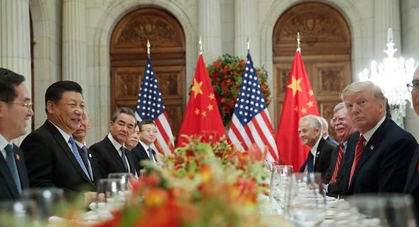 דונלד טראמפ ו שי ג'ינפינג ב פסגת ה-G20, צילום: איי פי