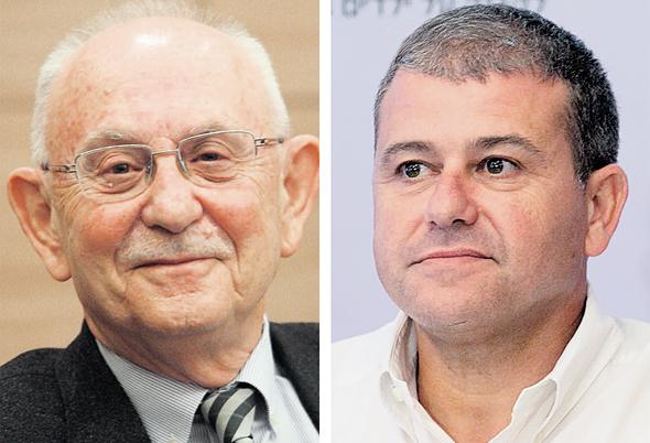 מימין: משה אדרי והשופט בדימוס אליעזר גולדברג
