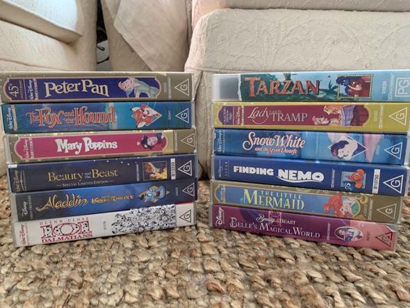 סרטי דיסני קלטות וידיאו VHS 2, צילום: ebay