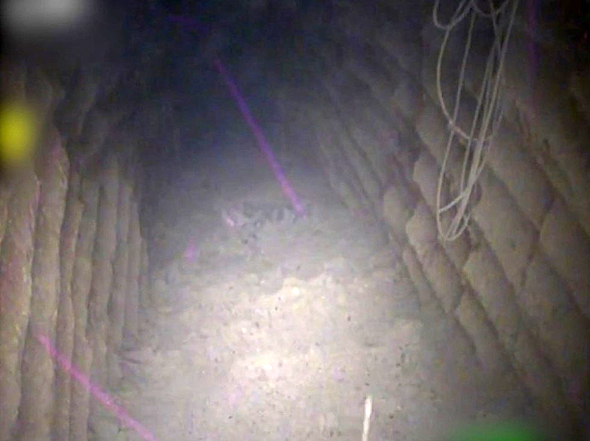 The first tunnel exposed publicly by the Israeli military. Photo: IDF