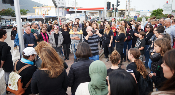הפגנת נשים נגד אלימות נגד נשים בצומת תל יוסף, עמק יזרעאל