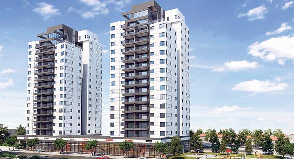 הדמיה של פרויקט הפינוי־בינוי בפרדס חנה. יוקמו 114 דירות