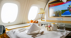 מחלקה ראשונה חברת אמירטס Emirates טיסות מטוסים איחוד האמירויות הערביות, צילום: שאטרסטוק