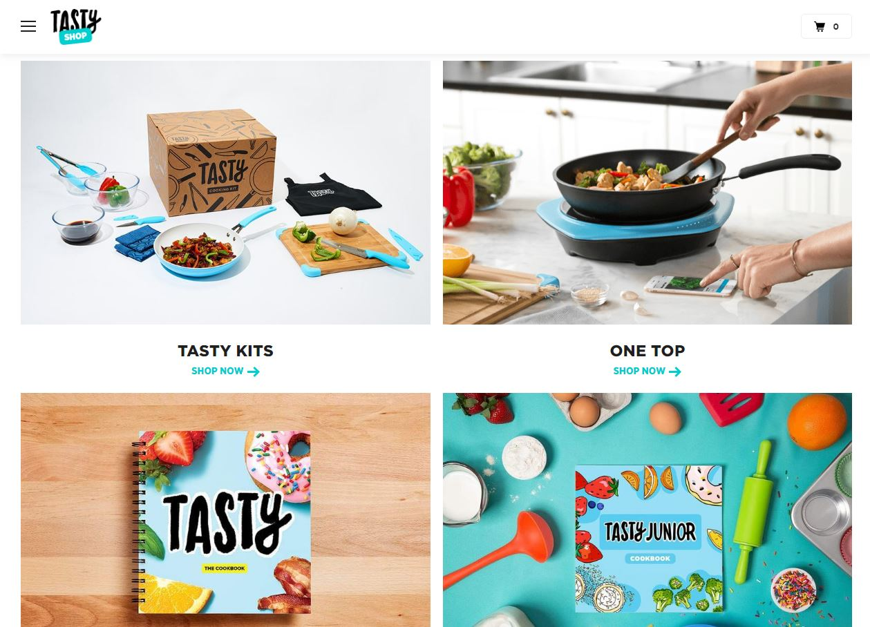 אתר קניות טייסטי - tastyshop, צילום מסך tastyshop