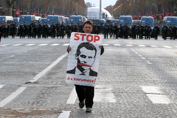 מחאה בפריז, צילום: איי פי