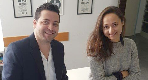 Abilisense co-founders Erez Lugashi (right) Katerina Rotenberg