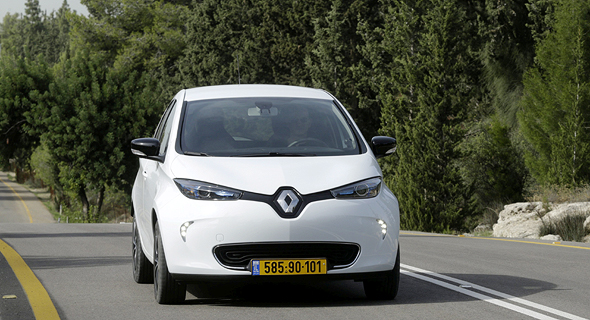 A Renault Zoe electric car. Photo: Amit Sha'al