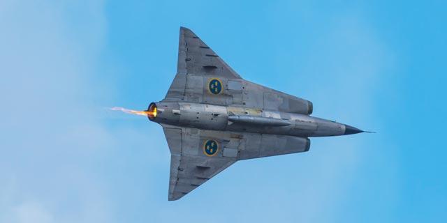 שבדיה סאאב מטוס קרב הקברניט, צילום: Avioesdeguerra