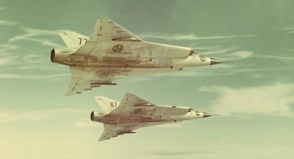זוג דראקנים באוויר, צילום: flygvapenmuseum