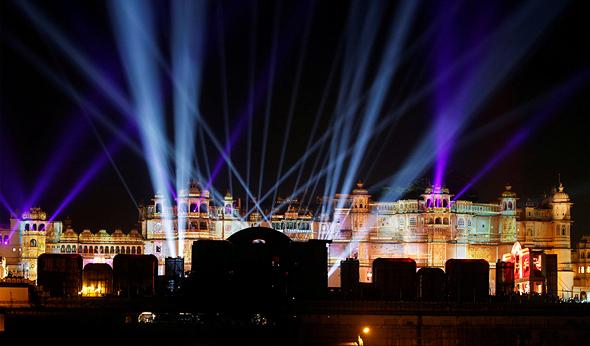 ארמון אודייפור בו נערכות החגיגות, צילום: רויטרס
