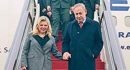 """ביקור ראש הממשלה בנימין נתניהו ורעייתו שרה  ב סין, צילום: חיים צח לע""""מ"""