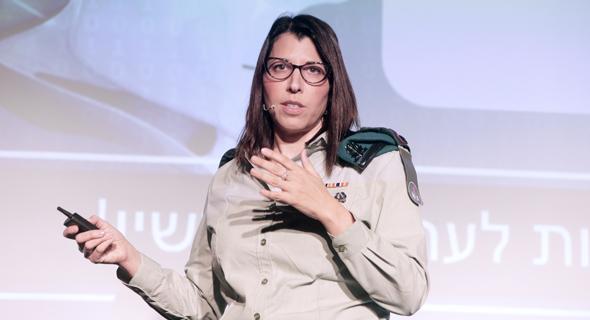 """סא""""ל נורית כהן-אינגר, ראשת ענף CDO באגף ההגנה והתקשוב בסייבר בצה""""ל, צילום: צביקה טישלר"""