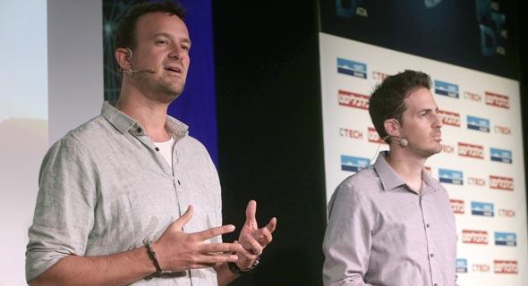 XTend co-founders Matteo (left) and Aviv Shapira. Photo: Zvika Tishler
