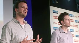 XTend co-founders Matteo (left) and Aviv Shapira. Photo: Zvika Tishler