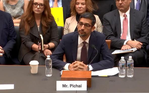 סונדאר פיצ'אי מעיד בבית הנבחרים האמריקאי