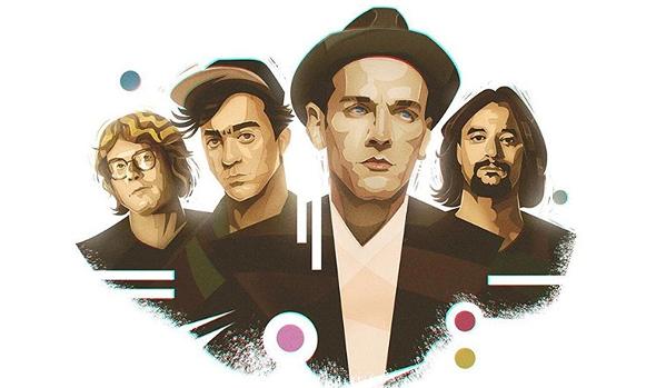 """להקת R.E.M באיור הנלווה לפרק שלהם ב""""סונג אקספלודר """""""