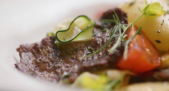 Aleph Farm's lab-grown steak. Photo: Aleph Farms