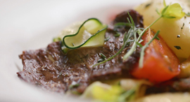 Aleph Farm's lab-grown steak. Photo: Aleph Farms.