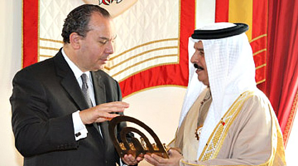Rabbi Schneier with Bahraini King Hamad bin Isa Al Khalifa. Photo: PR