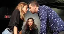 פנאי באמצע במאית מירב שירום על סט ה הצגה הסטוקריות, צילום: אוראל כהן