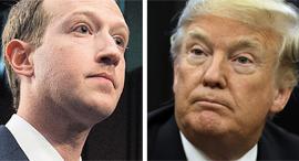 טראמפ וצוקרברג, צילום: אי פי איי, בלומברג