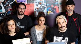 נציגי להקות שמשתתפות ב פרוייקט אוסף חיפה, צילום: גיל נחשותן