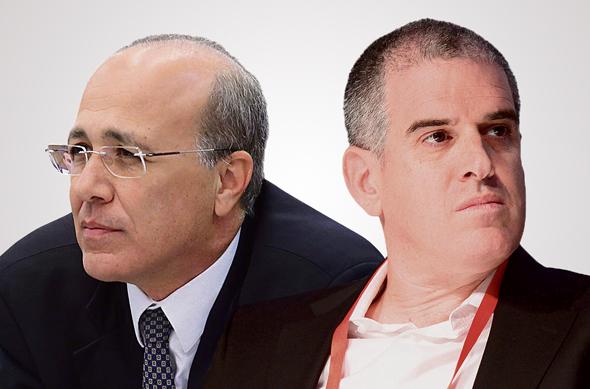 מימין: המנהל המיוחד של עמיתים יואב בן אור והממונה על שוק ההון משה ברקת