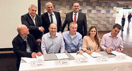 טקס חתימת הסכם הפרטת נמל חיפה, צילום: באדיבות דוברות ההסתדרות