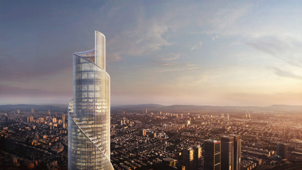 Simulation of the fourth Azrieli tower. Photo: KPF