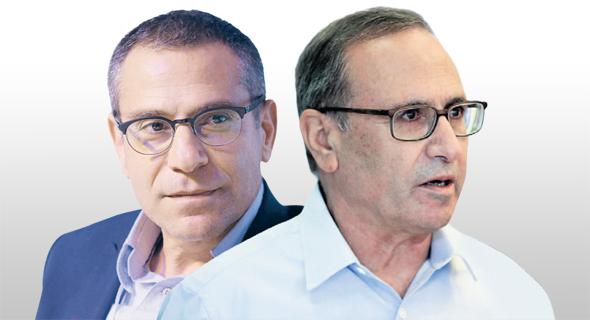 החשב הכללי רוני חזקיהו ומנהל רשות המסים ערן יעקב