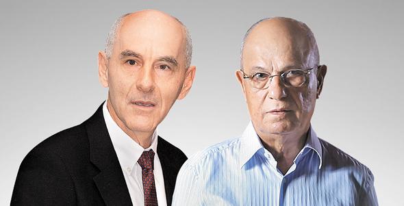מימין שלמה אליהו ופרופ' עודד שריג, צילום: עמית שעל, דמיטרי שביצ'נקו
