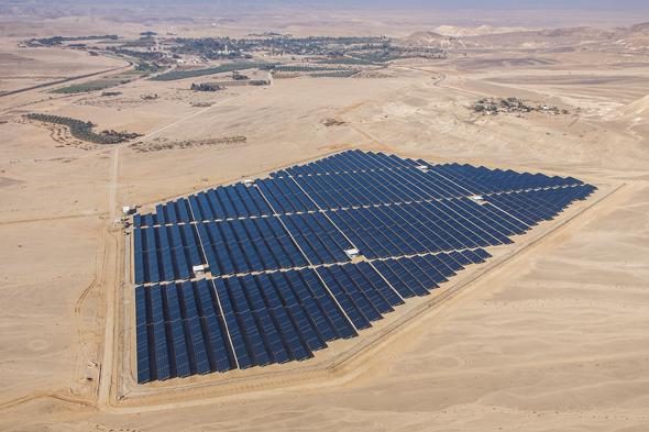 שדה סולארי בקיבוץ סמר בערבה. תחום חדש לחברות סיניות