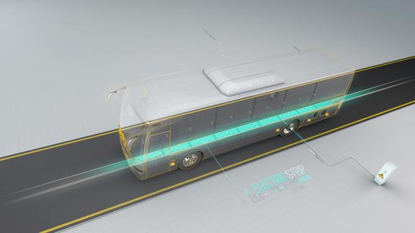 הדמיה של ElectRoad, כביש שנותן השראה לרכב חשמלי ופותח באחד הסטארט־אפים שצמחו אצל בנט