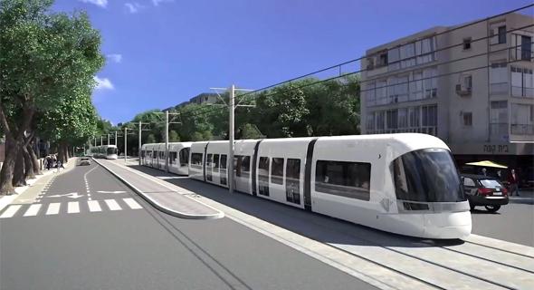 הדמיה של הרכבת הקלה בתל אביב, צילום: יוטיוב